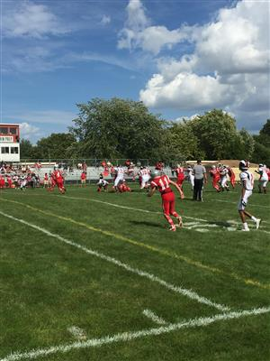 St. Joe's varsity football team beat Guerin Prep 47-18 Saturday in River Grove.